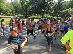 Patient Running a Race