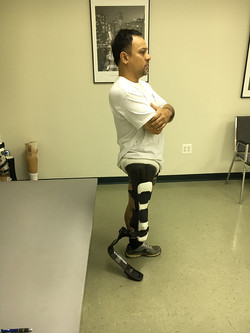 Fred testing running leg