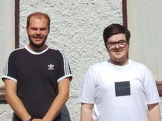 Shaun Owen and William Lloyd, IT Technician Assistants at Ysgol Uwchradd Caergybi