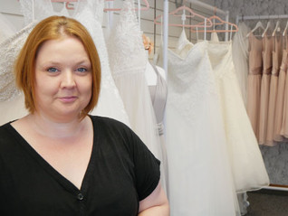 Elena Evans opens her dream Bridal Boutique in Holyhead