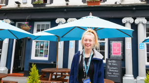 Amy Ramsden, age 19, secures role at Palace Vaults Caernarfon