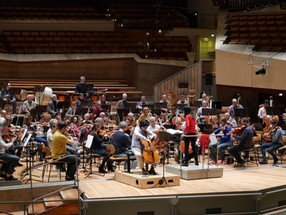 Rehearsal of «Taiwan Rhapsody» for cello and orchestra at Berlin Philharmonic 2018