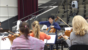 Recording film music for cello and orchestra with the Zurich Chamber Orchestra November 2018