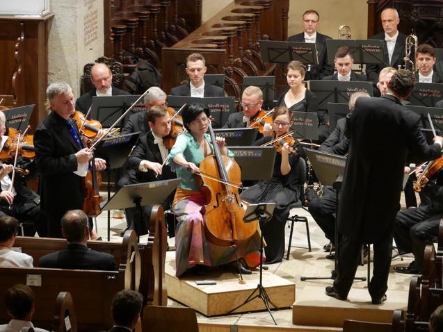 Double-Concertos by Saint-Saëns and Pfitzner - Willi Zimmermann, violin, Pi-Chin Chien, Violoncello, Sinfonia Varsovia, Kaspar Zehnder at Festival Murten Classics 2017