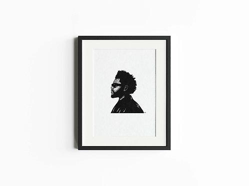 The Weeknd Art Print