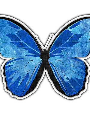 Collaged Butterfly Sticker