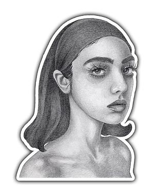 Lashes Sticker