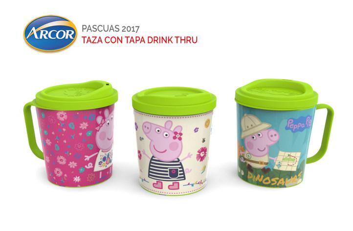 Taza + Tapa DrinkThru - ARCOR PASCUAS