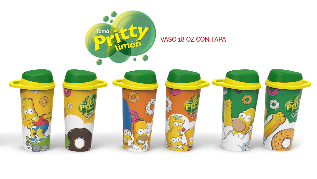Vaso 18 OZ con Tapa Doble - PRITTY