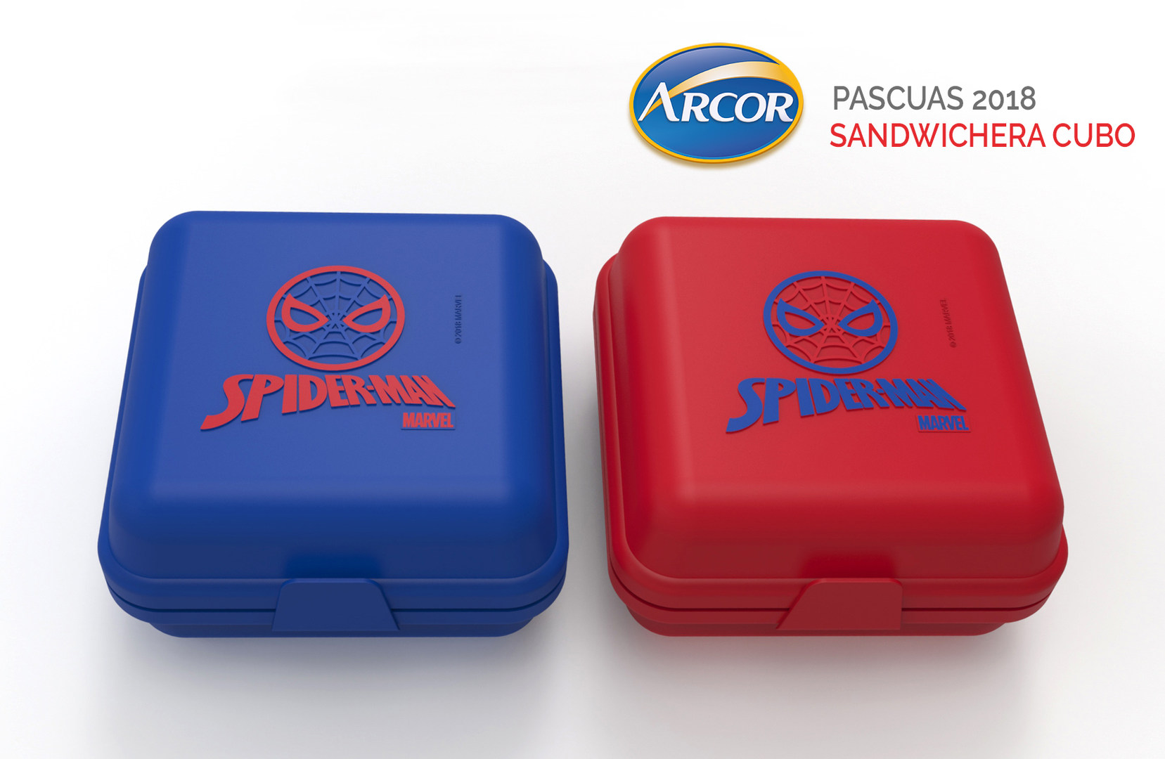 Sandwichera Cubo con aplique en Relieve - ARCOR PASCUAS