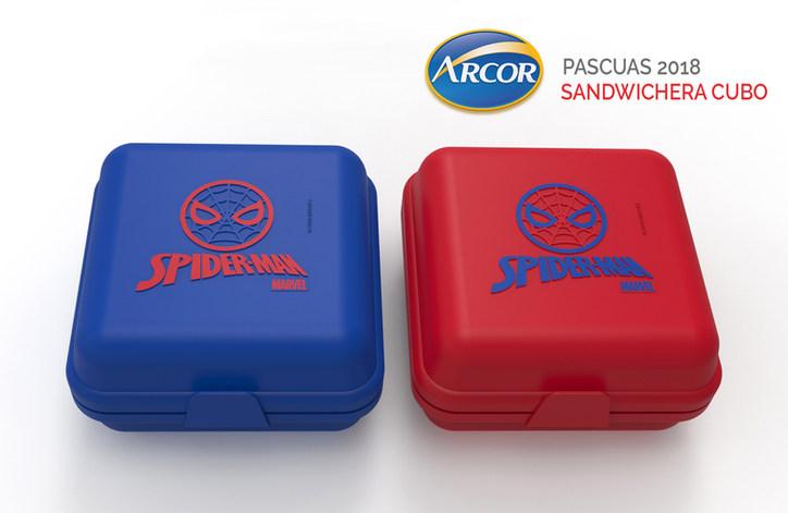 Sandwichera Cubo con aplique en Relieve - ARCOR PASCUAS