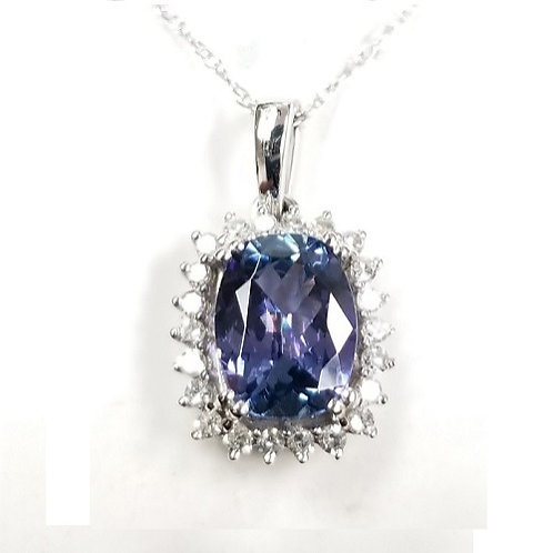 Bi-Color Tanzanite and Diamond Necklace