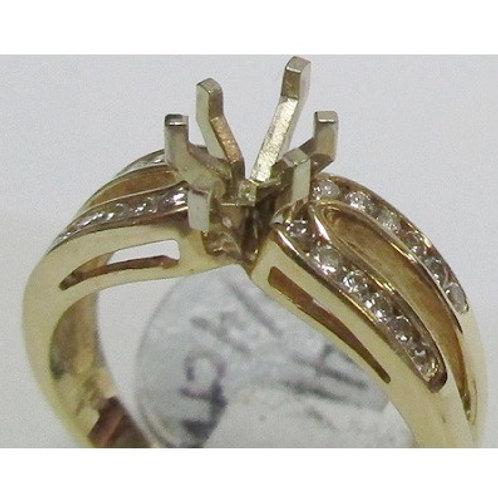 14k Yellow Gold & Diamond Engagement Ring Mounting 14k Yellow Gold & Diamond En