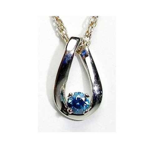1/8 Carat Blue Diamond Pendant