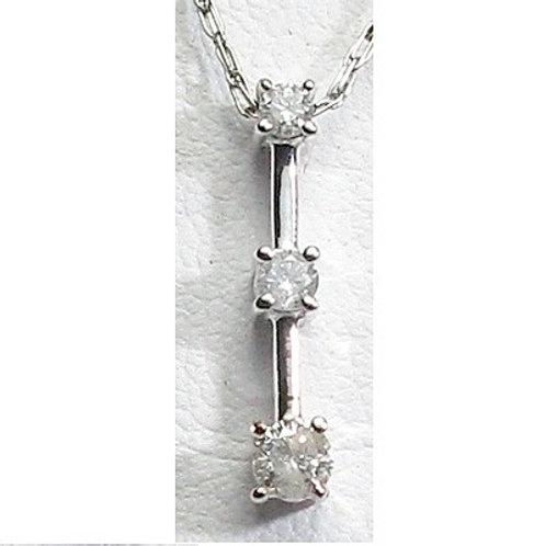 1/4 CTW Diamond 3-Stone Pendant