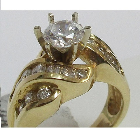 14k Yellow Gold & Diamond Engagement Ring Mounting 14k Yellow Gold & Diamond En