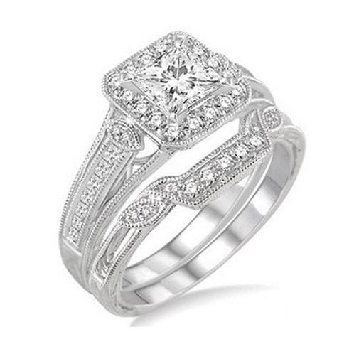 1 Ctw Diamond Wedding Set
