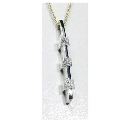1/3 CTW Diamond 3-Stone Pendant