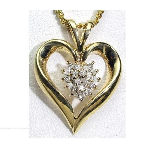 1/4 CTW Promo Quality Heart Pendant