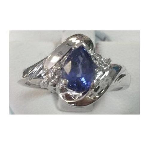 10K White Gold Tanzanite Ring