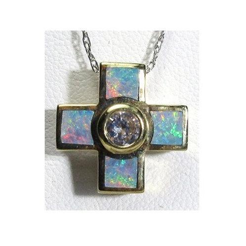 Black Opal Inlay Cross