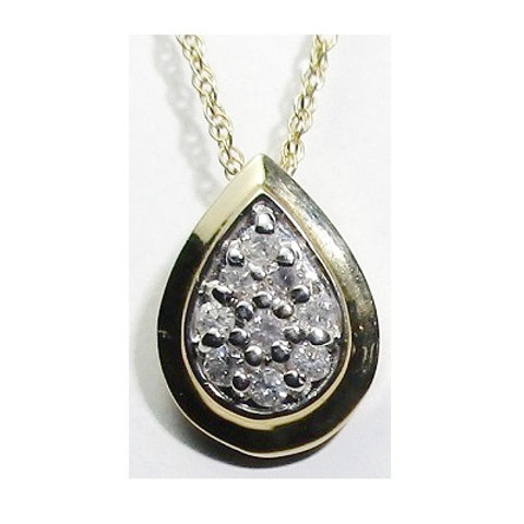 1/4 CTW Diamond Teardrop Pendant