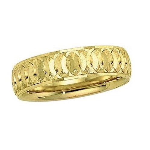 14K Yellow Gold Men's Wedding Band |