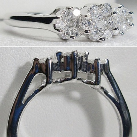 14K White Gold & Diamond Halo Wedding Set