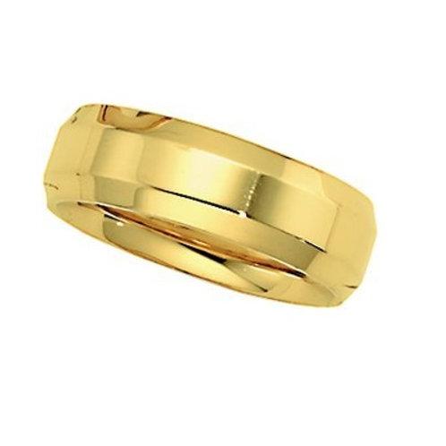 14K Yellow Gold Men's Wedding Band