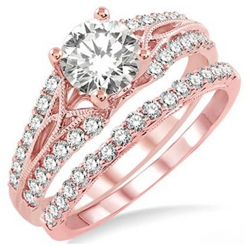 1 1/6 Ctw Diamond Wedding Set