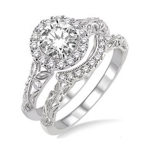 3/4 Ctw Diamond Wedding Set