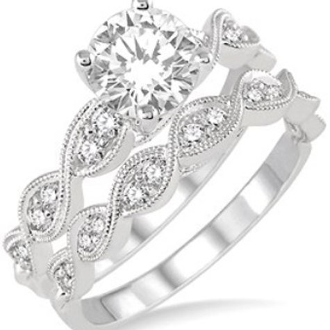 7/8 Ctw Diamond Wedding Set