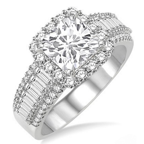 1 1/5 Ctw Diamond Semi-mount Ring