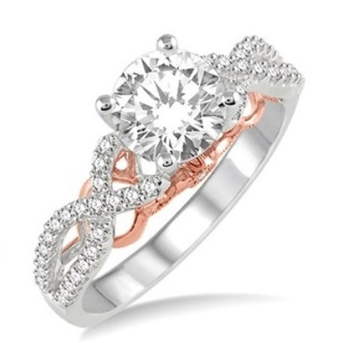 1/3 Ctw Diamond Semi-mount Ring