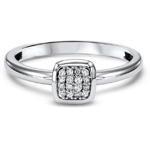 10K White Gold Mixable diamond fashion ring