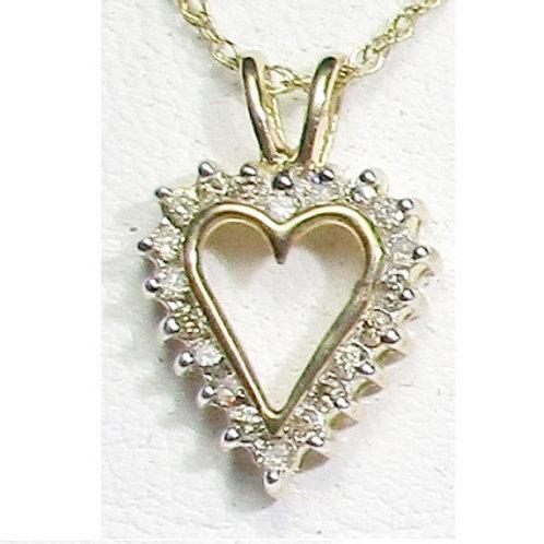 1/5 CTW Diamond Heart Pendant