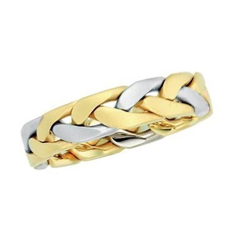 14K Gold Two Tone Men's Wedding Band