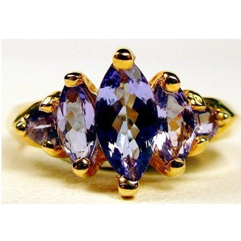 Trillion & Marquise 5-Stone Tanzanite Ring