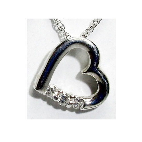 1/8 CTW Diamond Heart Pendant
