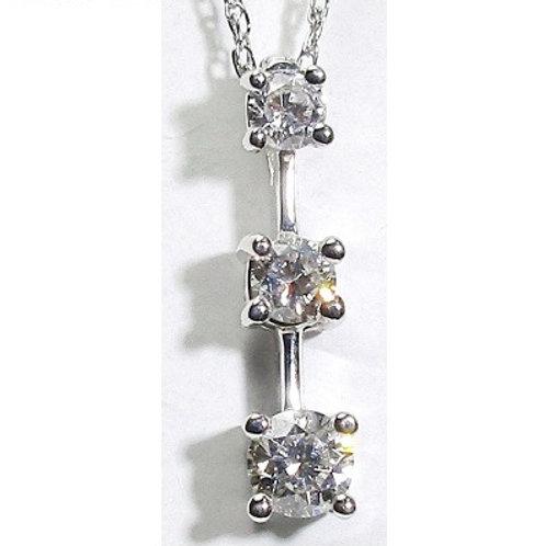 1 CTW 3-Stone Diamond Pendant