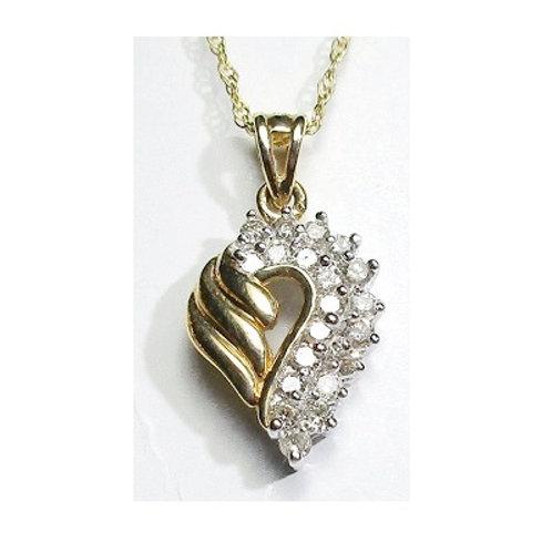 1/2 CTW Diamond Heart Pendant