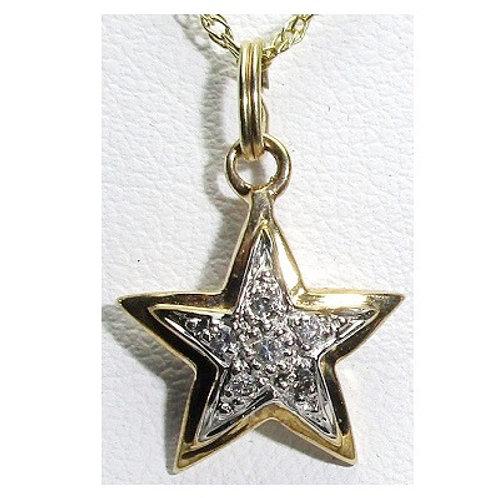 1/6 CTW Diamond Star Pendant