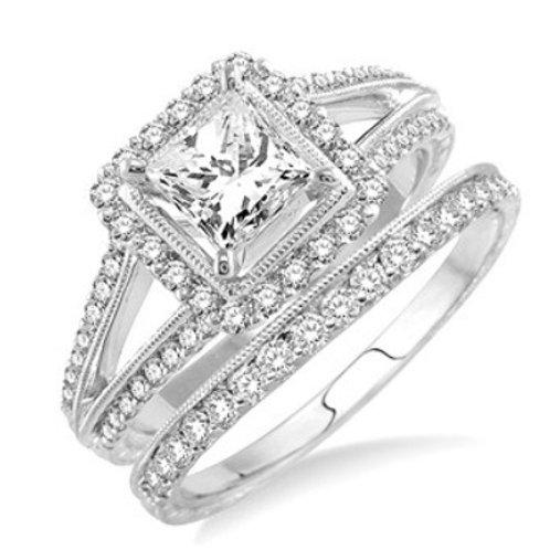 1 3/8 Ctw Diamond Wedding Set