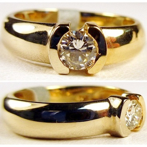 14K Two-Tone Gold & Diamond Engagement Ring