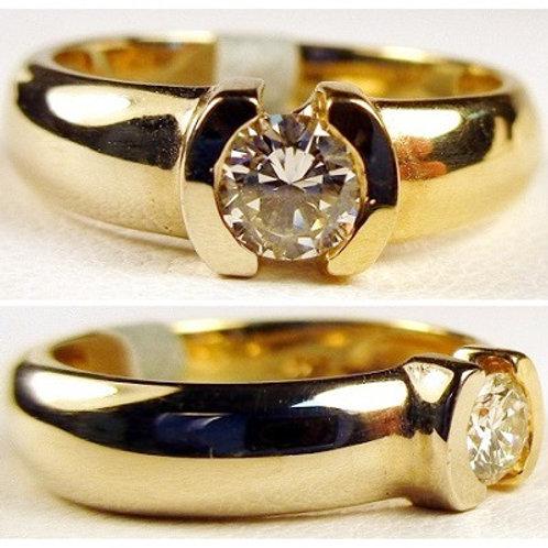 14K Two-Tone Gold & Diamond Engagement Ring