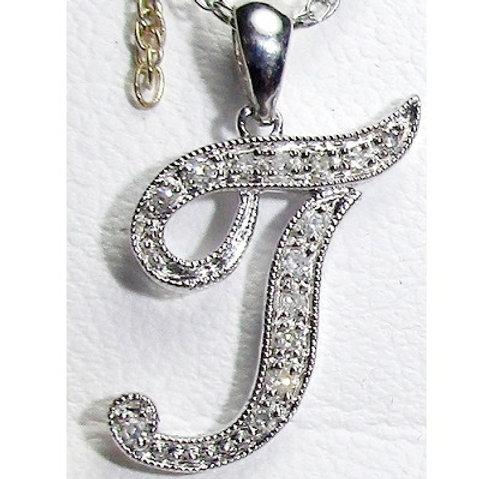 "Diamond ""T"" Pendant"