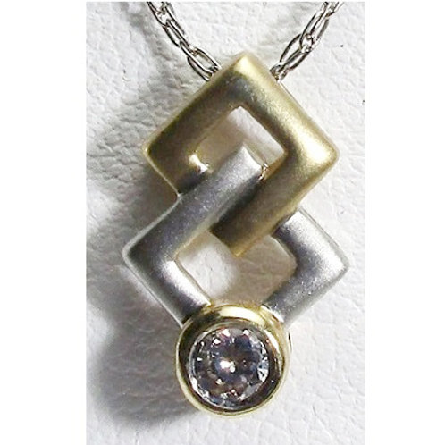 1/10 Carat Diamond Two-Tone Pendant