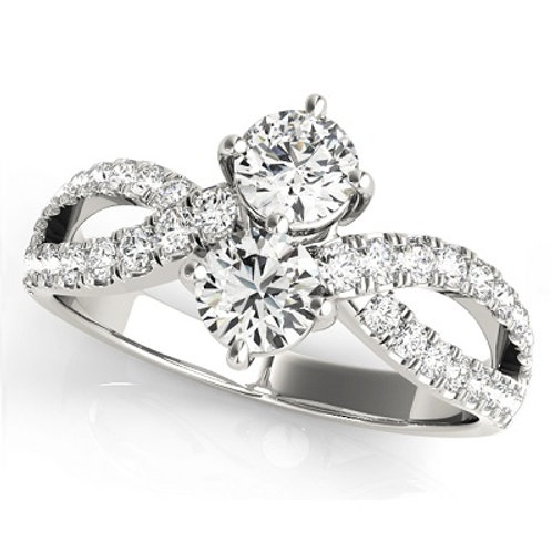 Two Stone Forever Ring