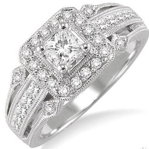 1 Ctw Diamond Semi-Mount Ring