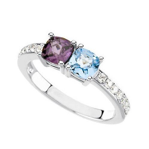 Vintage Diamond Mother's Ring